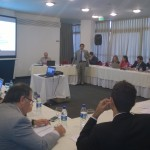 Emiliano R. Fernández, Director General de la Unidad de Proyectos de Participación Público Privada de la STP dirigiéndose a los participantes del taller.