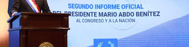 Presidente de la República presentó su segundo informe presidencial