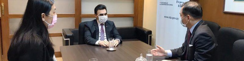 Ministro Pereira recibe visita de cortesía de nuevo embajador de Taiwán