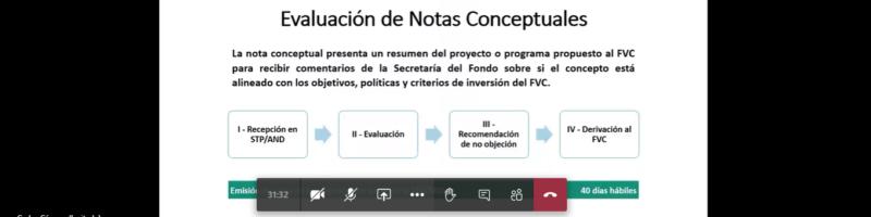 Finaliza ciclo de reuniones informativas sobre financiamiento del Fondo Verde