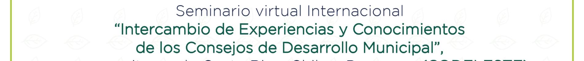 Invitan a seminario virtual sobre experiencias y conocimientos de Consejos de Desarrollo Municipal