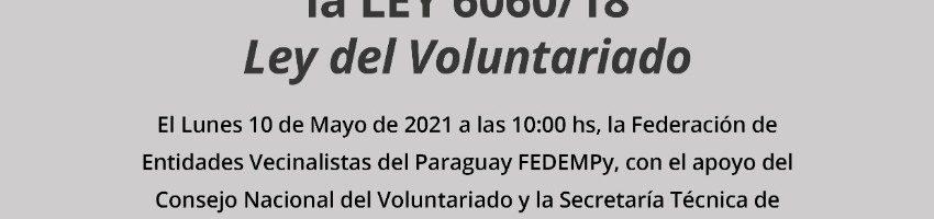 Ley de Voluntariado estará al alcance entidades vecinalistas