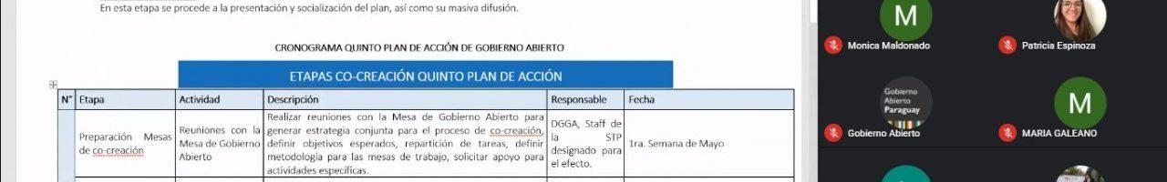 Foro de Gobierno Abierto se reúne para iniciar elaboración del quinto Plan de Acción