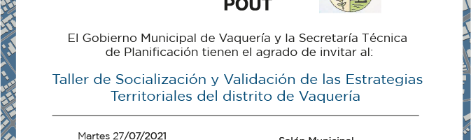 Invitan a pobladores de Vaquería a ser parte de la planificación del territorio