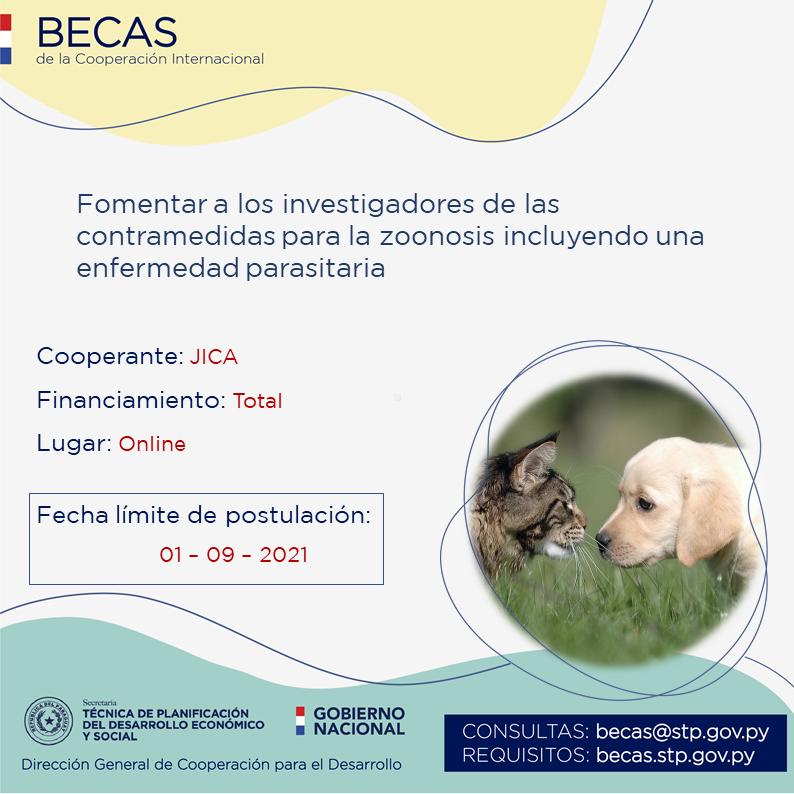 JICA ofrece beca con financiamiento total para veterinarios