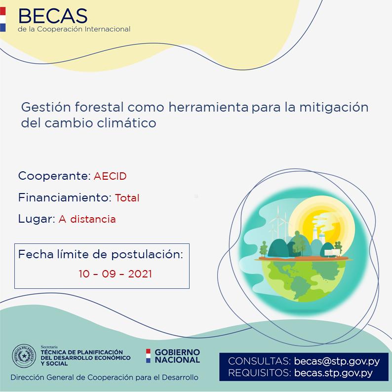 AECID ofrece curso con financiamiento total sobre cambio climático