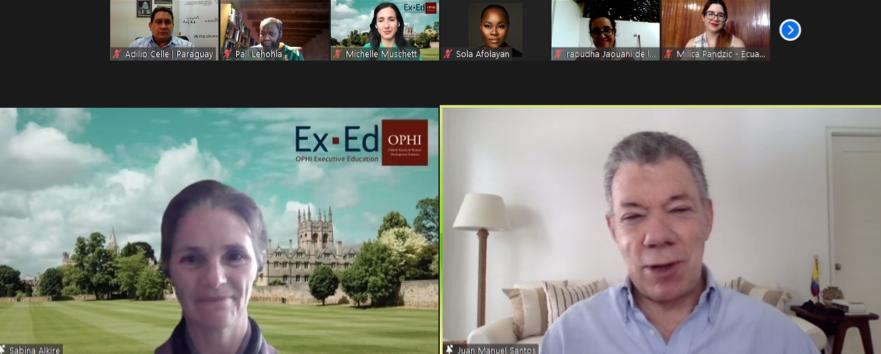 STP y OPHI inauguran curso sobre Pobreza Multidimensional de la Universidad de Oxford
