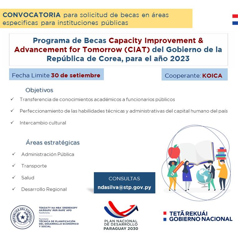 Gobierno de Corea invita a presentar propuestas de capacitaciones en áreas especificas