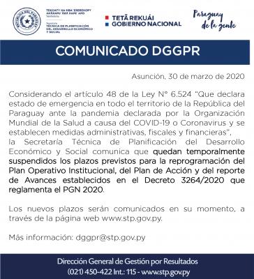 COMUNICADO DGGPR-01