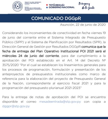 DGGPR comunicado 22 junio-01